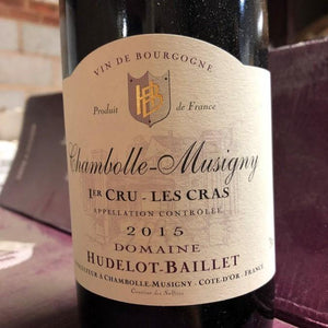 Chambolle Musigny Les Cras 2015, Domaine Hudelot-Baillet