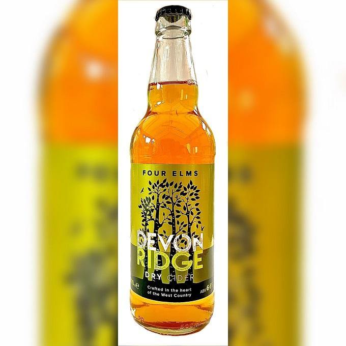 500ml:  Devon Ridge Dry Cider 6.8% Four Elms