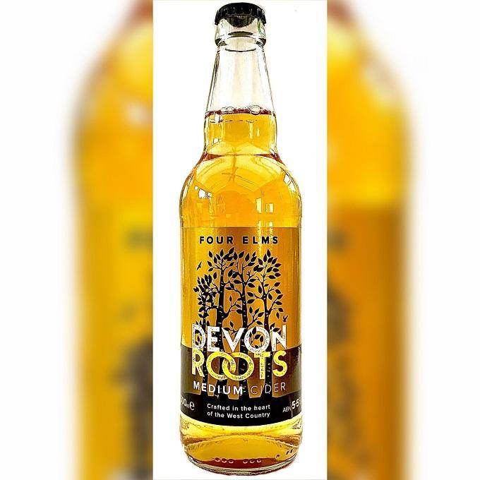 500ml: Devon Roots Medium Cider 5.5%,  Four Elms