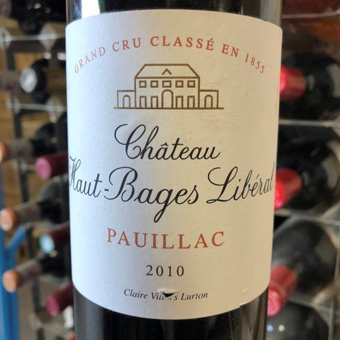 Chateau Haut Bages Liberal 2010, Pauillac
