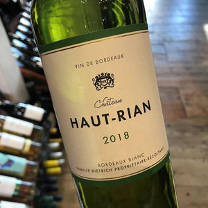 Half Bottle: Haut Rian 2018, Bordeaux Blanc
