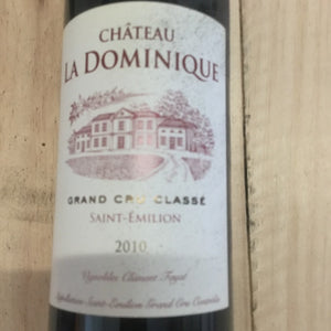 NEW: Half Bottle: Chateau La Dominique 2010, St Emilion