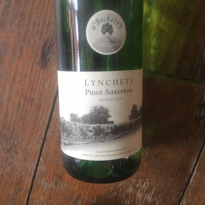 Lynchets Pinot Auxerrois,  A'Becketts Vineyard