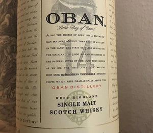 Oban 14 Year Old, 43% proof
