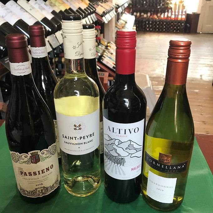 SIX MIXED RED & WHITE Wines