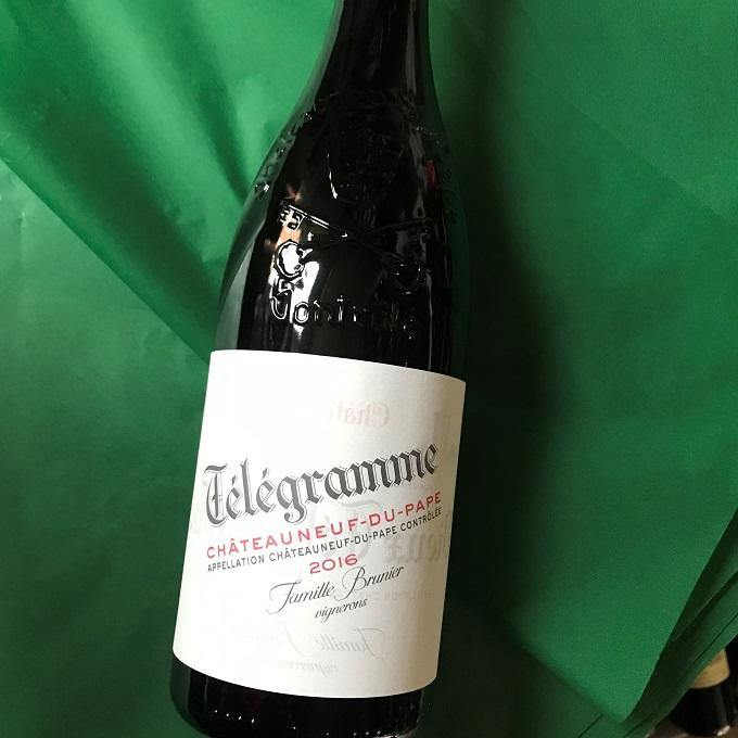 Telegramme 2016, Chateauneuf du Pape, Brunier
