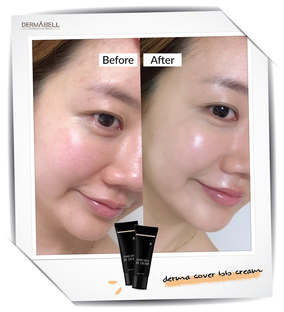 Dermabell Basic Derma Cover BB Cream Before After