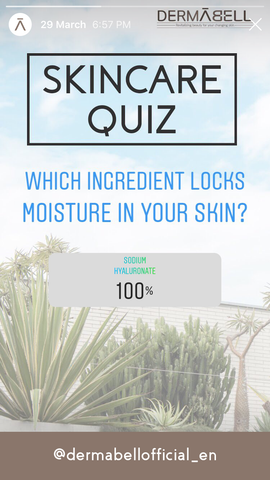 Which ingredient locks moisture in your skin | Sodium Hyaluronate | DERMABELL
