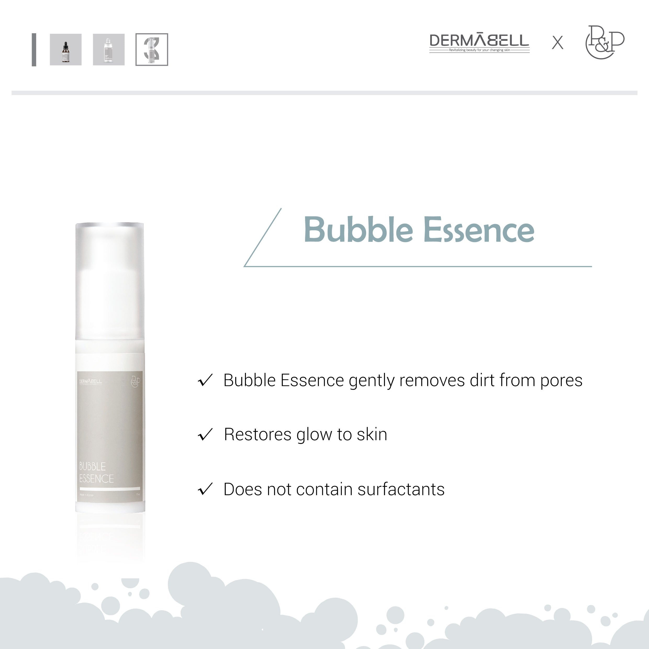 Bubble Peel Therapy Set Dermabell Therapy by DERMABELL PRO THERAPY. Kbeauty. Skincare. Cosmeceutical. Cosmetics. Singapore. Malaysia. Dermatologist.