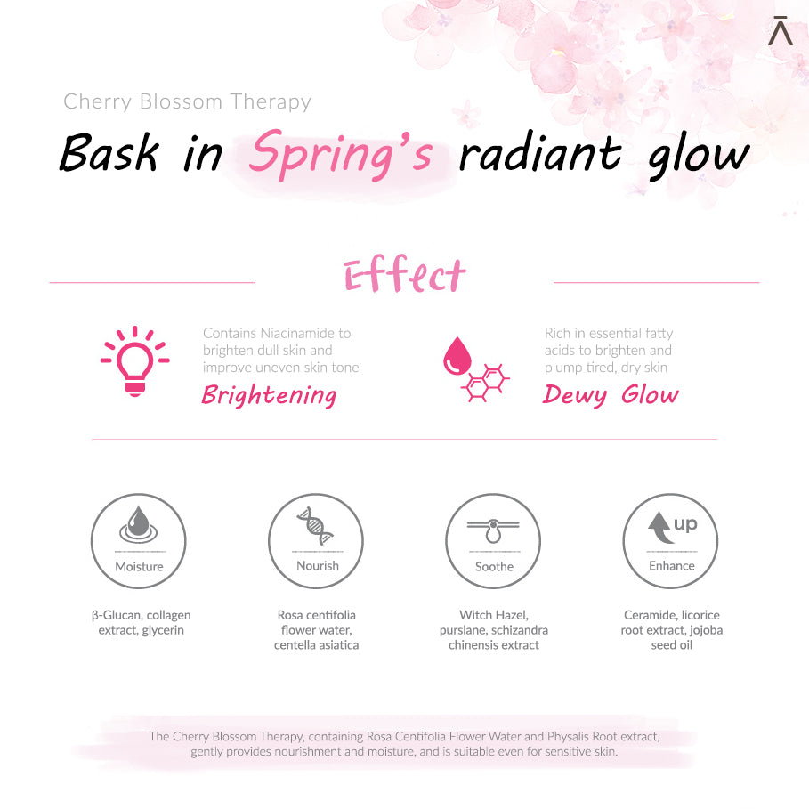 Colorar De Rosa: Cherry Blossom Therapy Set Ver.2 Dermabell Therapy by DERMABELL PRO THERAPY