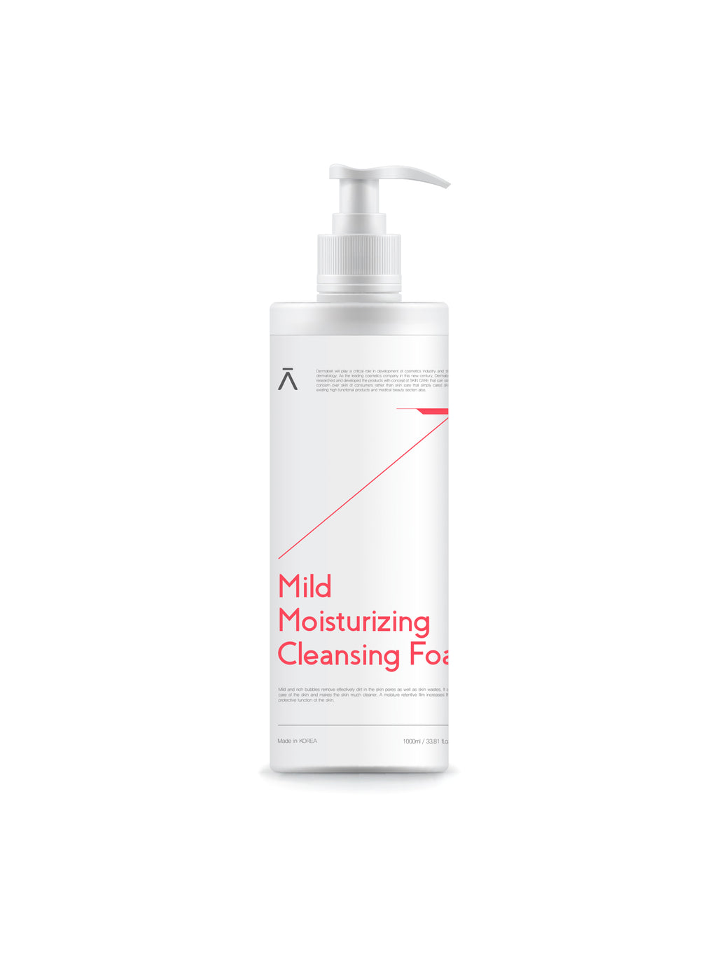 Mild Moisturizing Cleansing Foam (Soft & Moist Facial Foam) Cleanser by DERMABELL PRO