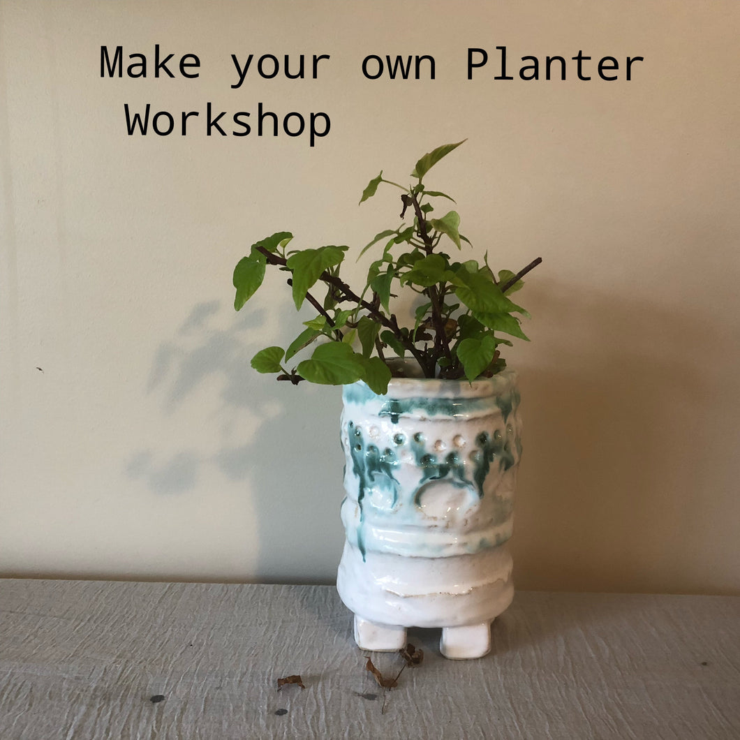 Make a Planter.  Thursday 22nd October 10am-1pm