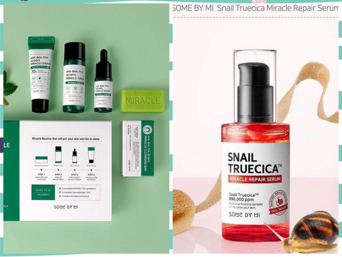 TRIAL KIT AND SNAIL SERUM W/ FREE SHEET MASK .FREE DELIVERY