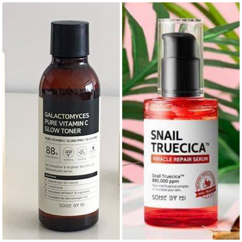 GALACTOMYCES VITAMIN C TONER & SNAIL TRUECICA REPAIR SERUM