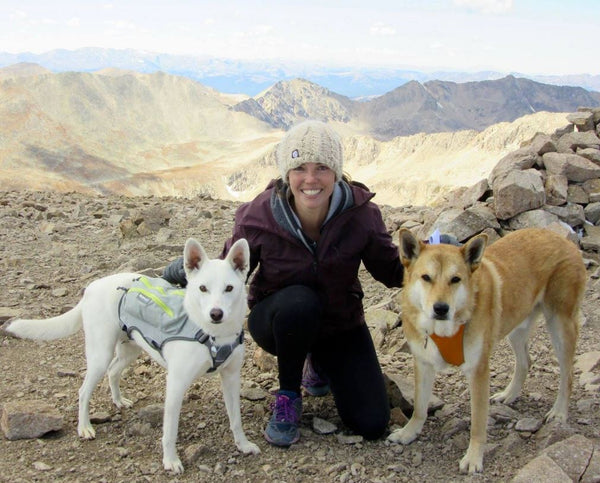 Hiking with my dogs, Phoenix and Lander