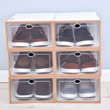 6 Slots Shoes  Collapsible Drawer Type Organize Boxes