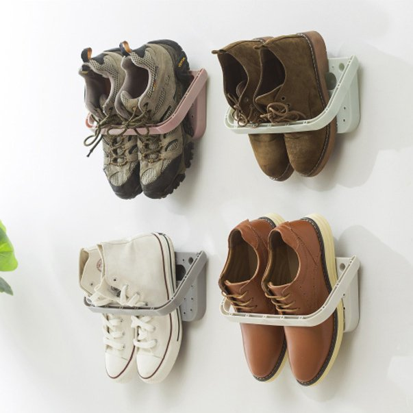Wall-Mounted Sticky Hanging Shoe Holder Hook Rack