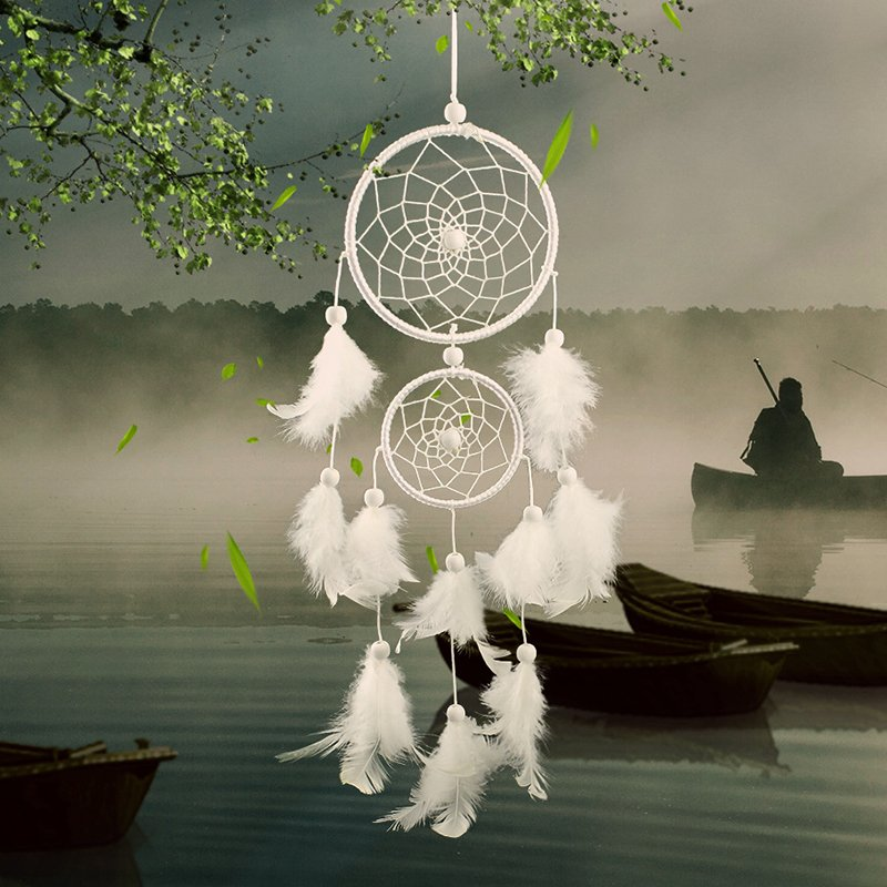 New Round Shape Dream Catcher with Feathers Wall Hanging Decoration