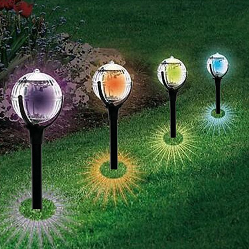 Solar Garden Lights LED Color Changing Landscape Lights Waterproof Solar Lights Outdoor Garden Pathway Decor
