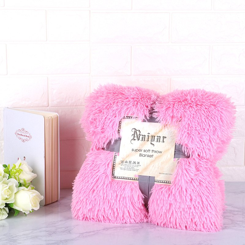 Super Soft Long Shaggy Sherpa Throw Blanket