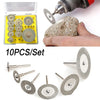 10Pcs Diamond Cutting Discs Cut Off Wheel Set For Dremel Rotary Tool