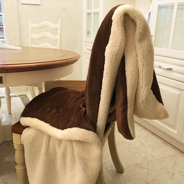 Warm Flannel Lambwool Blanket for Sofa Air Throw Travel Manta Soft Blanket For Beds