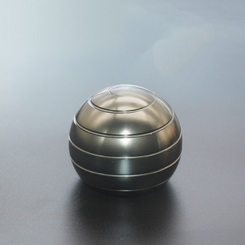 Office Stress Relief with Full Body Optical Illusion Metal Ball