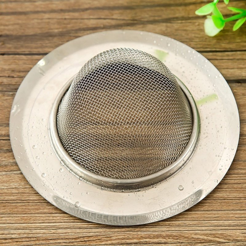 Stainless Steel Kitchen Sewer Sink Strainer Filter Plug Waste Clean