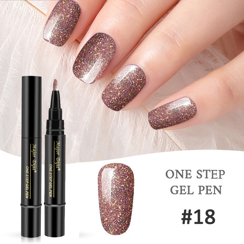 18 Colors Nail Polish Pen Gel Nail Varnish Pen UV Nail Art Gel Lacquer