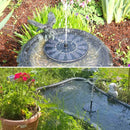 Solar Fountain Pump Floating Water Fountain for Birdbath, Pond, Pool, Garden