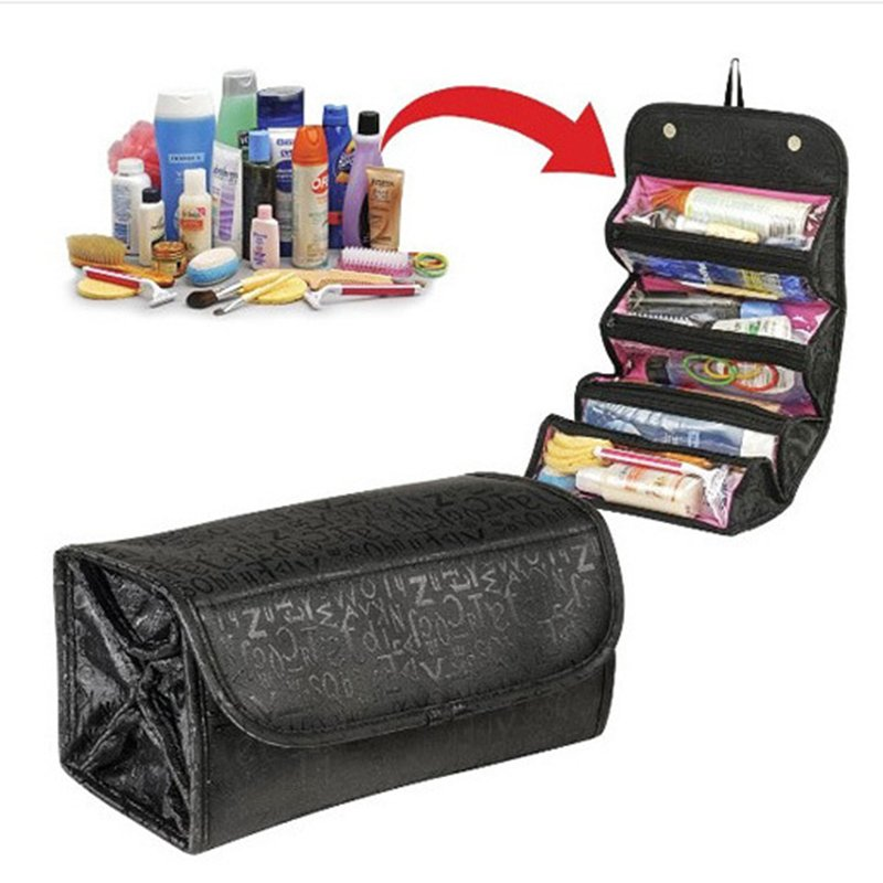 Casual 600D Oxford High Capacity Storage Bag Folding Cosmetic Bag