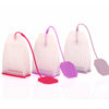2Pcs Silicone Loose Leaf Tea Infusers Tea Bag Shape Herbal Spice Strainer Filter