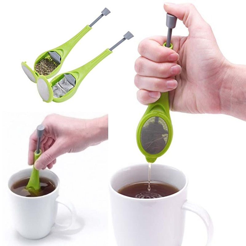 New Tea-leaf Infuser Loose Strainer Herbal Spice Silicone Filter Diffuser Tool