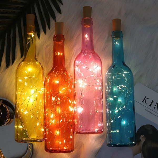 7 Types LED String Lights Wine Bottle