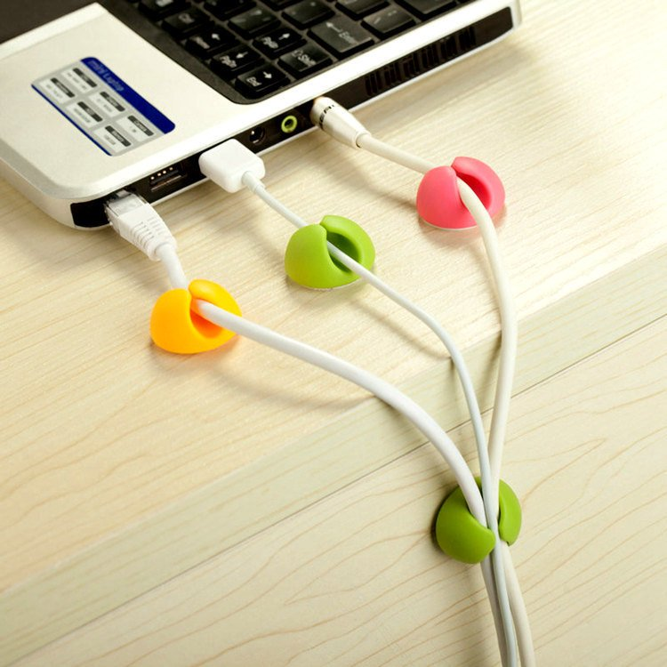 6PCS Bobbin Winders Stick-on Wire Holder For Cables Storage