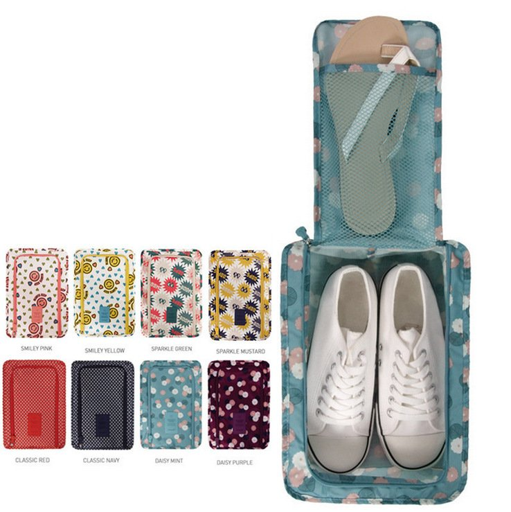 600D Oxford Cloth Travel Shoes Storage Bag Box Waterproof