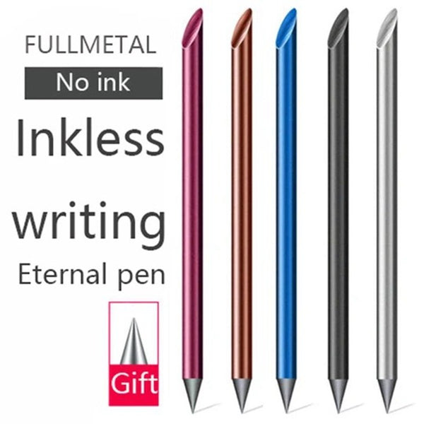 Undead Full Metal Fountain Pen Luxury Eternal Pen Gift Box Inkless Pen