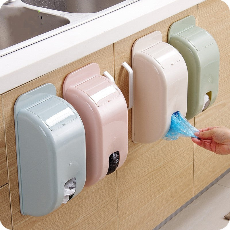 Plastic Wall Mounted Hanging Storage Box Extract Garbage Bag Holder