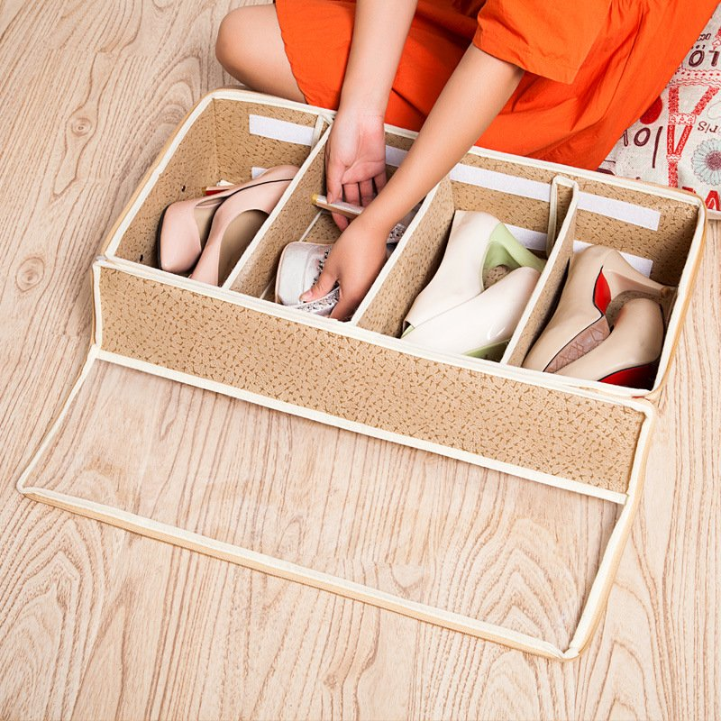 Visible Under Bed Shoes Clothes Storage Box Organizer