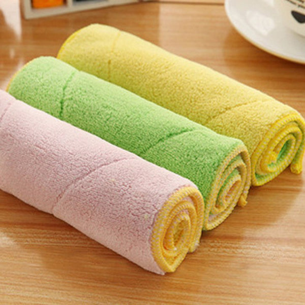 Microfiber Double-sided Absorbent Kitchen Rag