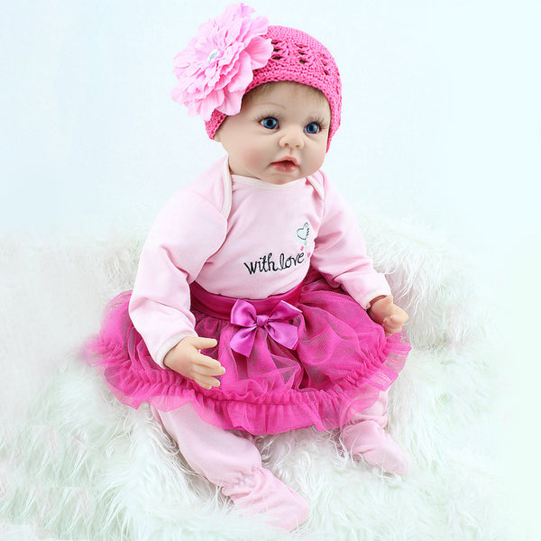Hot Sale Silicone Reborn  Dolls Children Toy Simulation Baby Doll