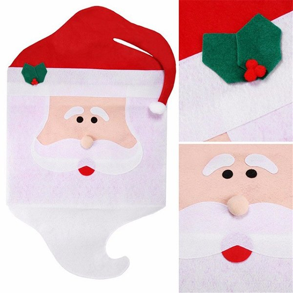 Christmas Chair Covers Santa Claus Christmas Decoration