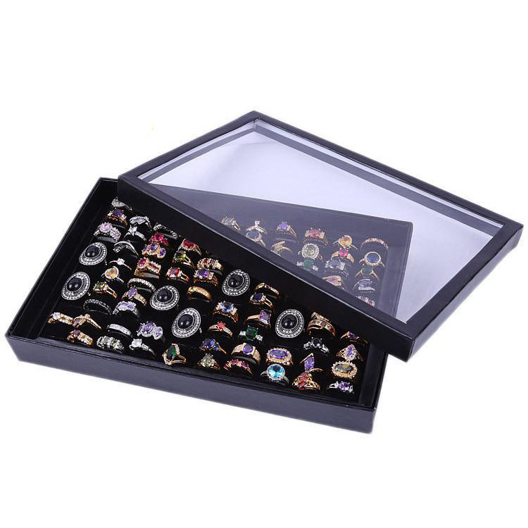 100 Ring Jewellery Display Storage Box Tray Show Case Organiser