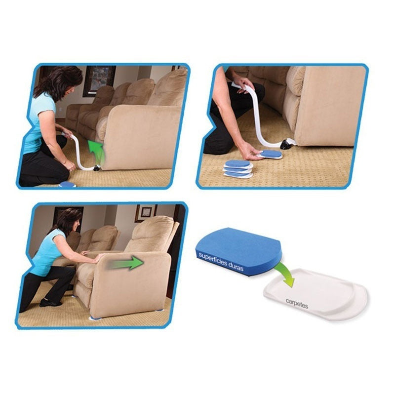 Furniture Lifter Moves Pads with Mover Sliders Kit Home Moving Lifting System