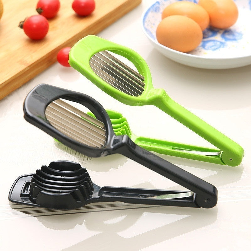 Stainless Steel Cut Egg Slicer Sectione Cutter Mold Flower Edges Gadgets
