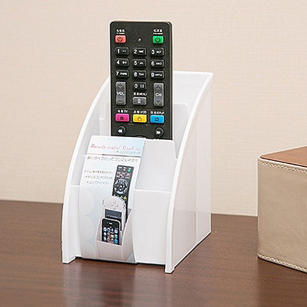 DVD TV Remote Control CellPhone Stand Holder Storage Box