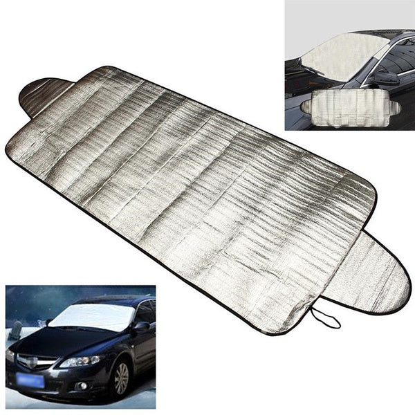 Car Windscreen Cover Winter Anti Snow Frost Ice Shield Dust Protector Sun Shade Silver