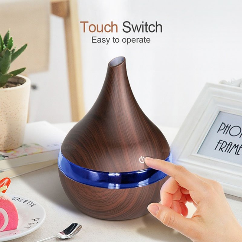 USB Electric Aroma Air Diffuser Wood Ultrasonic Air Humidifier Essential Oil Aromatherapy Cool Mist Maker