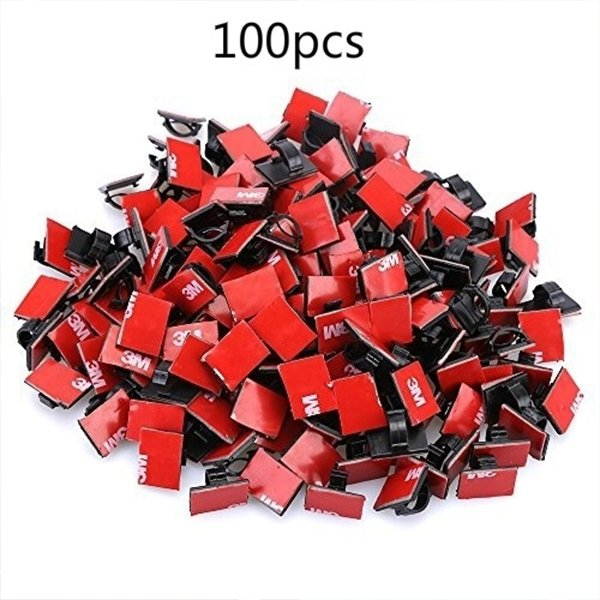100 Pcs Adhesive Cable Clips Wire Clamps Car Cable Organizer