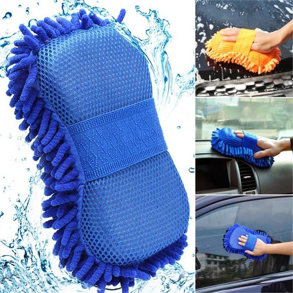 Car Hand Soft Towel Microfiber Chenille Washing Gloves Coral Fleece Gloves